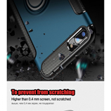 Blue Luxury Shockproof Metal Ring Holder iPhone Case